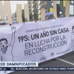 Damnificados por sismos marchan en la CDMX