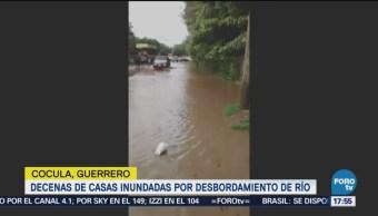 Decenas De Casas Inundadas Cocula, Guerrero