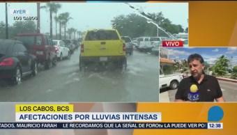 Depresión tropical 19-E provocó lluvias en Los Cabos