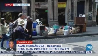 Desalojan inmueble de la calle de Tacuba