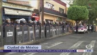 Desalojo de vivienda en Eje Central CDMX