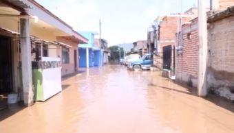Desborda el río Zula en Jalisco