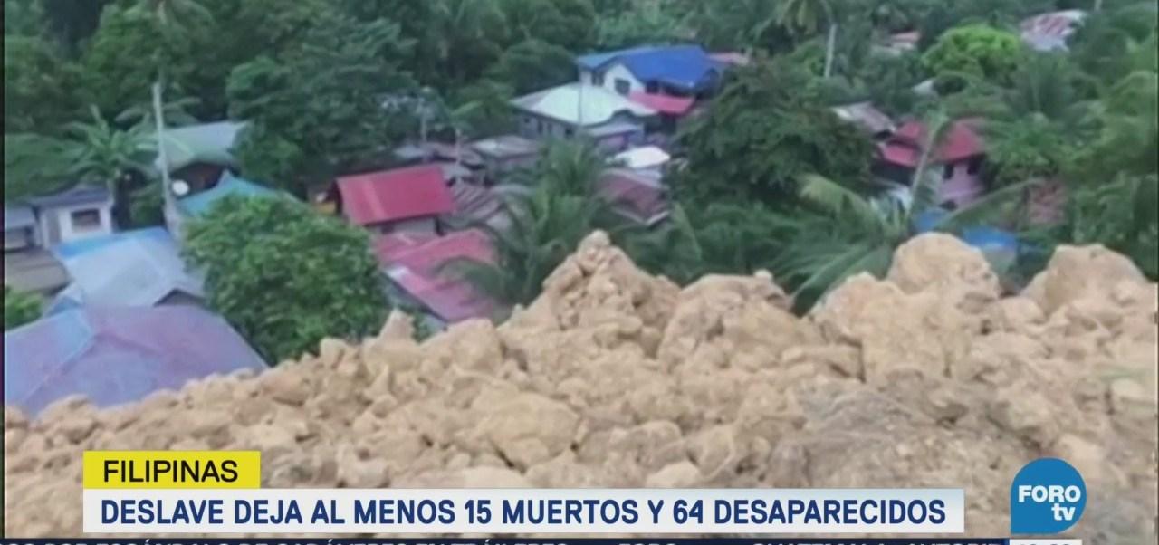 Deslave en Filipinas deja más de diez muertos muertos