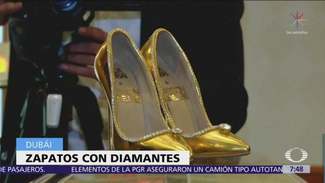 Venden en Dubai zapatos con diamantes y oro por 17 mdd