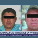 Dictan libertad a ocho implicados en Ayotzinapa