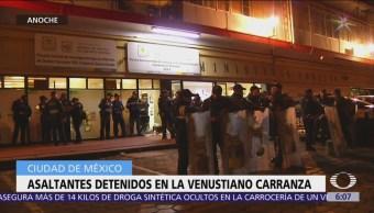 Detienen a asaltantes en la delegación Venustiano Carranza, CDMX