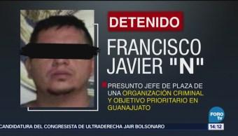 Detienen H1 Presunto Jefe Plaza Guanajuato