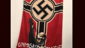 Dibujo de Mandela haciendo saludo nazi enoja a Sudáfrica