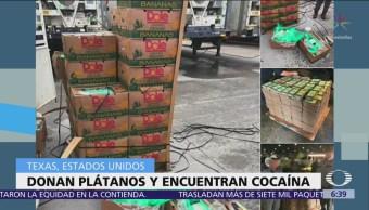 Donan plátanos y encuentran cocaína en Texas