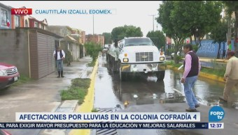 Edomex despliega equipo especial para atender inundaciones en Cuautitlán Izcalli