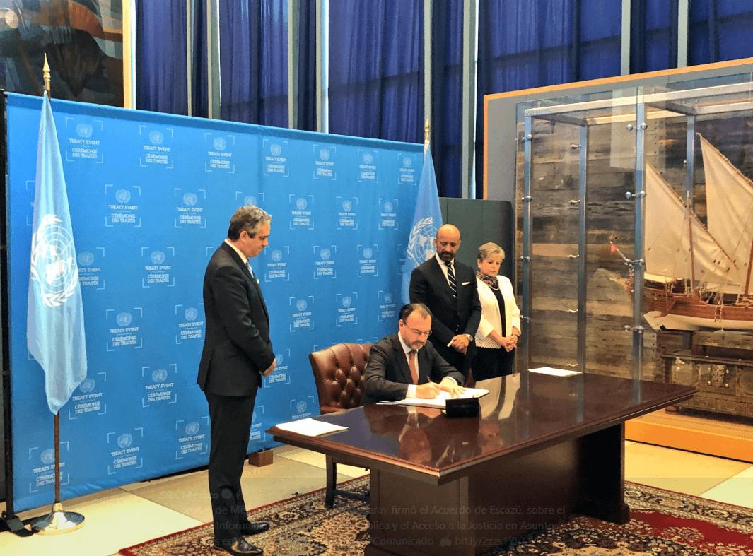 Firman en ONU acuerdo ambiental para América Latina y el Caribe