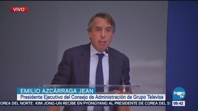 Emilio Azcárraga Jean informa avances de reconstrucción