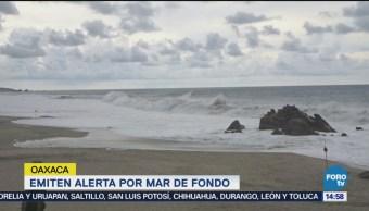 Emiten alerta por fenómeno de Mar de Fondo en Oaxaca
