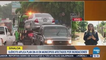 En El Fuerte, Sinaloa, pobladores regresan a sus hogares