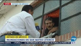 Enfermos en Atenco enfrentan otro reto con inundación del río Lerma