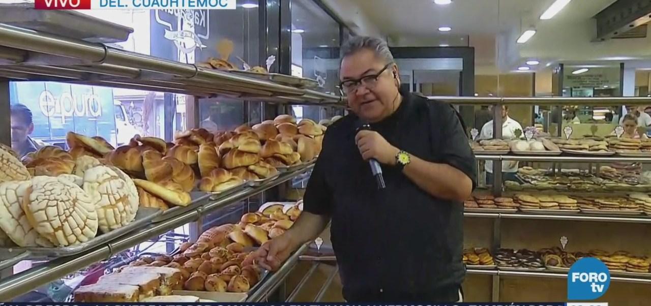 Enrique Muñoz reporta desde una panadería
