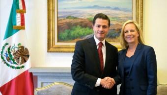 Peña Nieto y secretaria Nielsen dialogan sobre migración