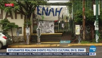 Estudiantes realizan evento político cultural en la ENAH