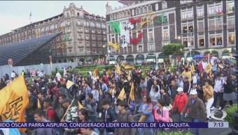 Estudiantes UNAM marchan contra porros en sus escuelas