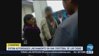 Evitan linchamiento en San Cristóbal de las Casas