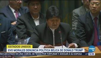 Evo Morales denuncia política bélica de Trump
