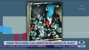 Exigen trato adecuado a cadáveres no reclamados en Jalisco