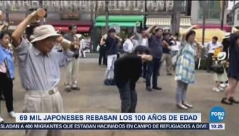 Japoneses rebasan los 100 años de edad