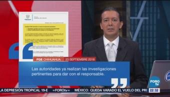 Fiscalía De Chihuahua Condena Asesinato Empresario