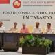 Tabasco celebra Foro de Educación, abuchean gobernador