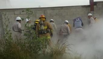 Controlan megafuga de gas por toma clandestina, en Puebla