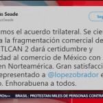 Funcionarios México Celebran Aprobación Acuerdo Comercial