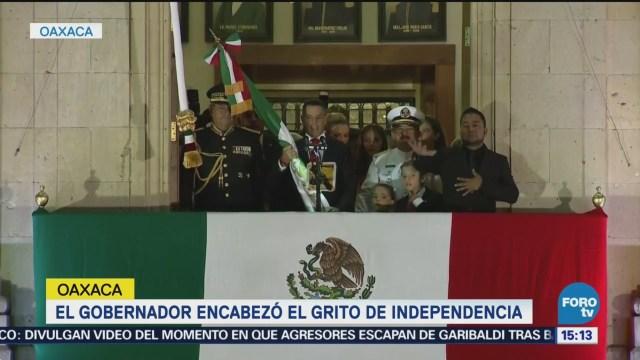 Gobernadores Realizan Tradicional Grito Independencia México