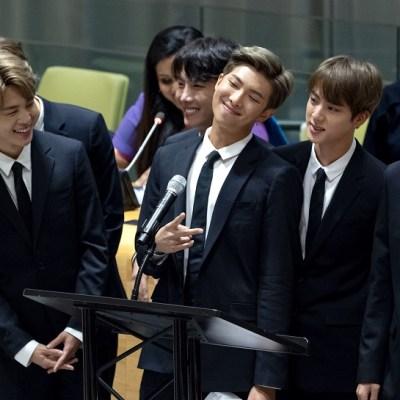 La banda coreana BTS habla en la ONU