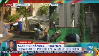 Habitantes de predio desalojado se instalan colonia Juárez
