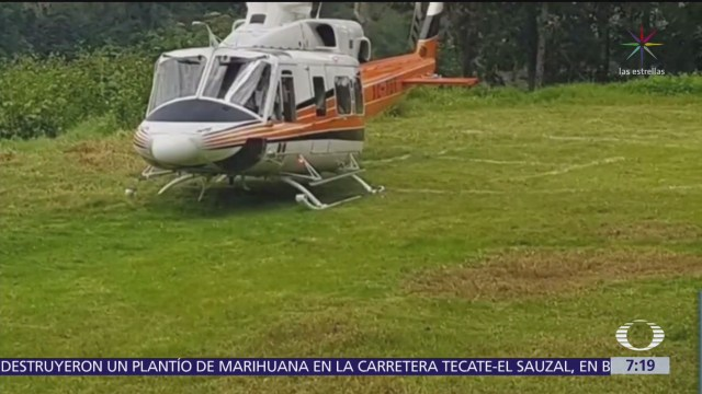 Helicóptero donde viajaba Manuel Velasco realiza aterrizaje de emergencia