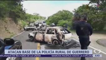 Hombres armados atacan base de Policía en Eduardo Neri, Guerrero