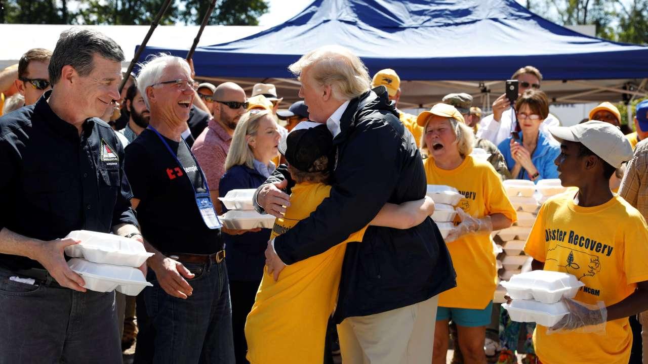 Huracán Florence: Trump promete 'mucho dinero' a afectados