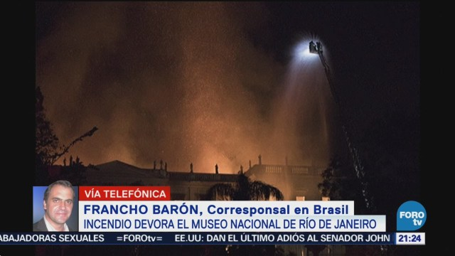 Incendio consume Museo Nacional de Río de Janeiro