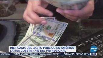 Ineficacia de gasto público cuesta 4.4 de PIB regional: BID
