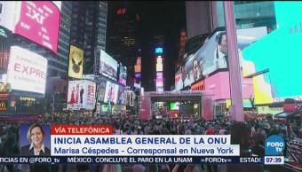 Inicia asamblea general de la ONU en Nueva York
