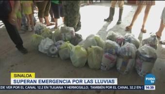 Inicia etapa de recuperación en Sinaloa lluvias torrenciales