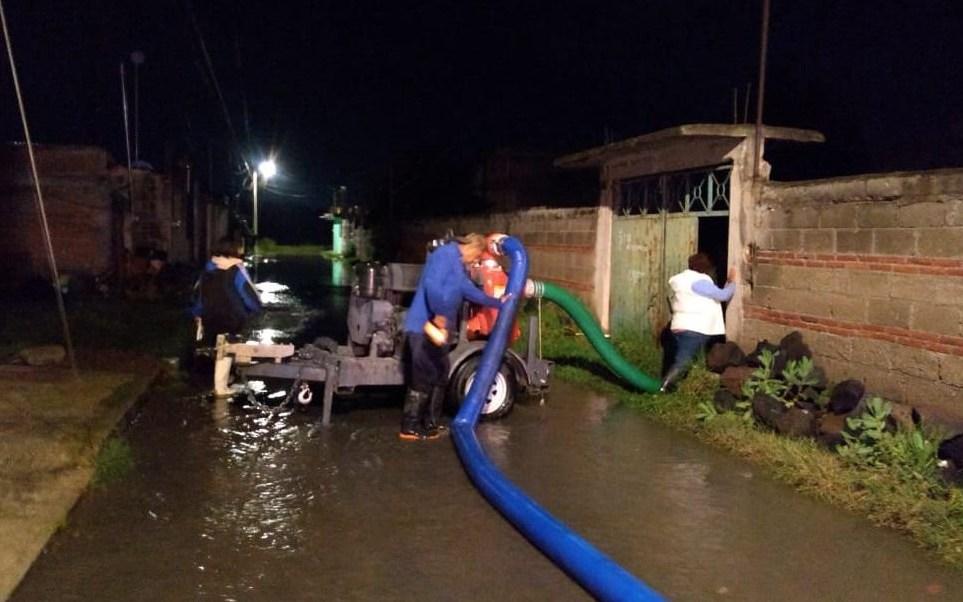 Lluvia en Puebla hoy provoca inundaciones