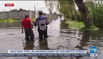 Inundaciones por fisura del río Lerma afectan cultivos en Atenco