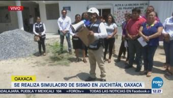 Juchitán Realiza Simulacro Conmemorar Sismo 7S