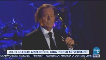 Julio Iglesias arranca gira de 50 aniversario