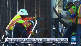 Remplazan Malla Muro De Acero El Paso, Texas Patrulla Fronteriza Estados Unidos malla ciclónica