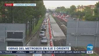 Obras Del Metrobús Complican Circulación Eje 3 Oriente