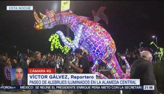 Exposición Alebrijes Iluminados Alameda Central Cdmx