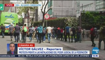 Manifestantes se retiran del Poder Judicial de la Federación