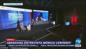 Lewinsky abandona entrevista al ser cuestionada sobre Clinton